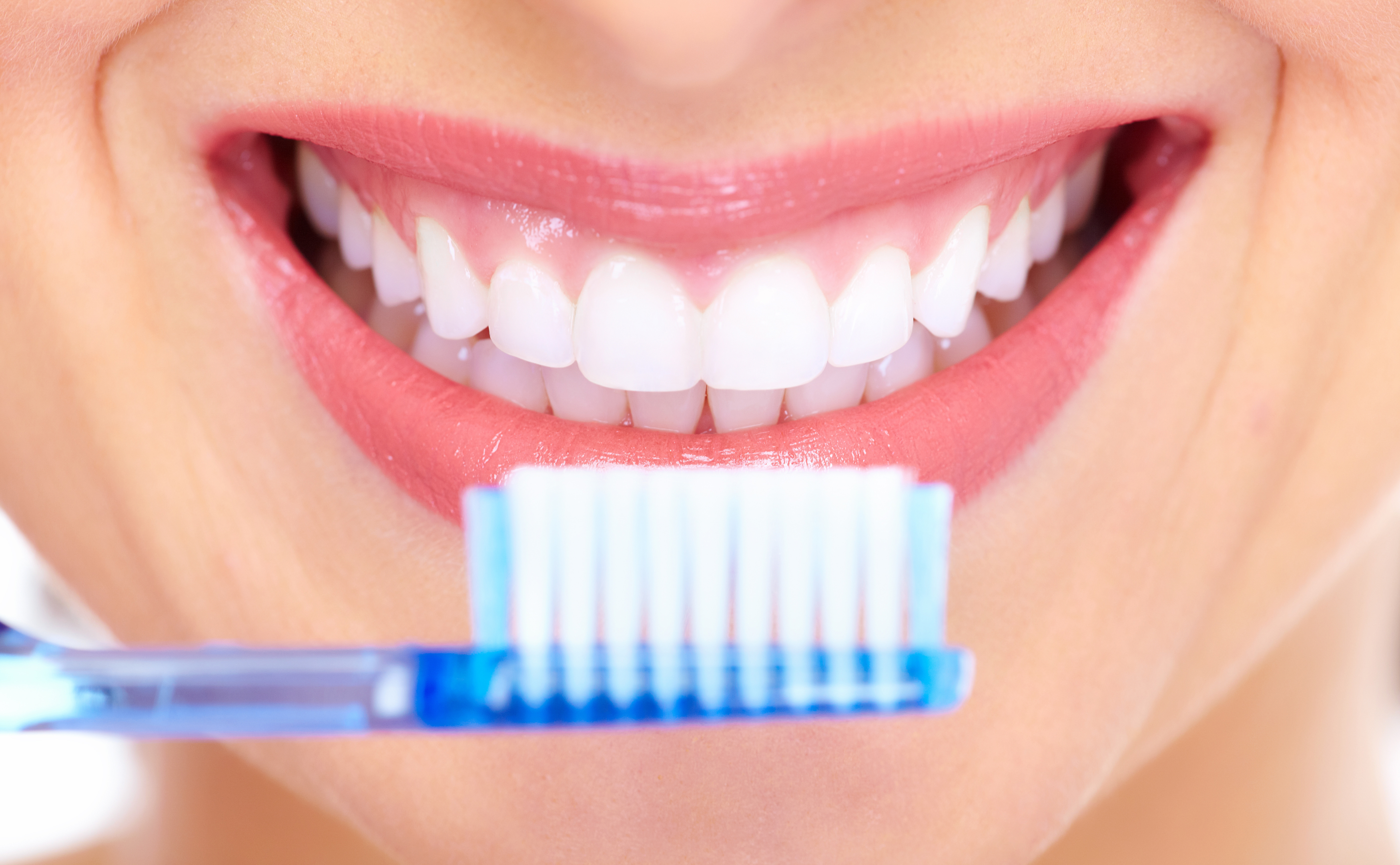 Beautiful woman smile. Dental health.